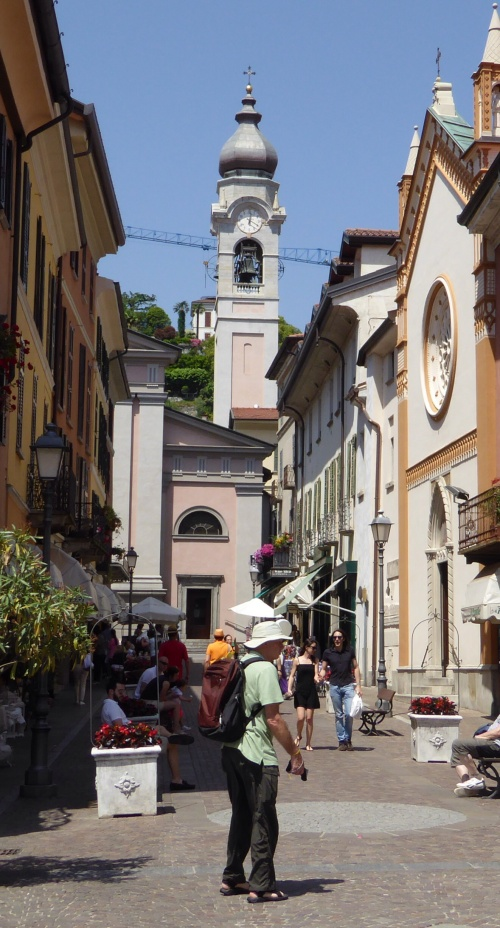 The main pedestrian street leading to the church