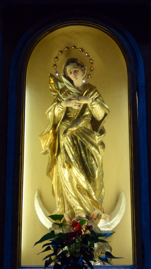 One of the two sculptures in this church