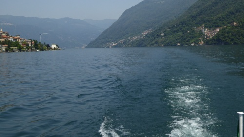 Looking back up the lake.... Almost to Como.