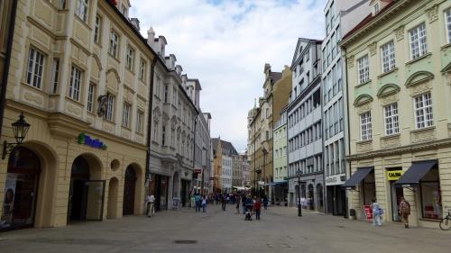 A pedestrian mall.