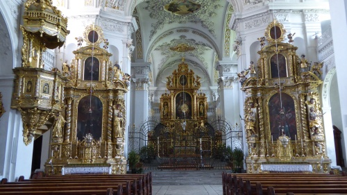 The interior of the abbey church