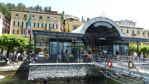 Ferry jetty at Bellagio on Lake Como, Italy