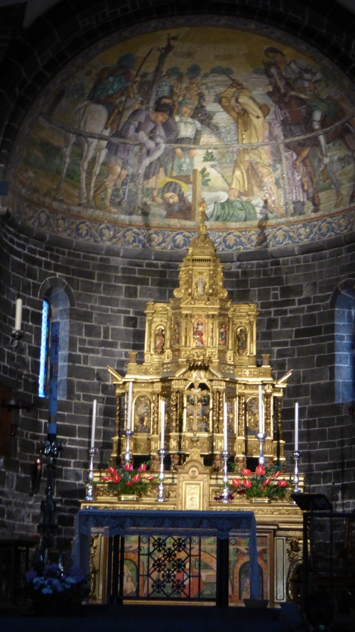 The altar in the church, Bellagio