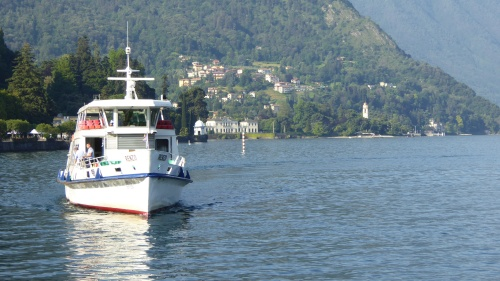 Ferries preparing for a busy Sunday of tourist to Bellagio.