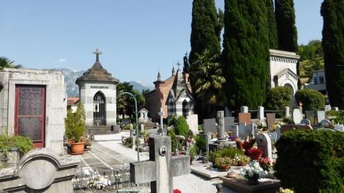 Well kept cemetery.