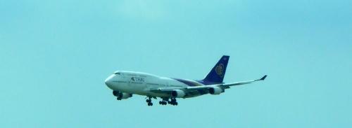 A Thai plane on approach.