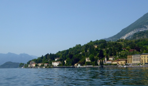 From the ferry... Lake Como
