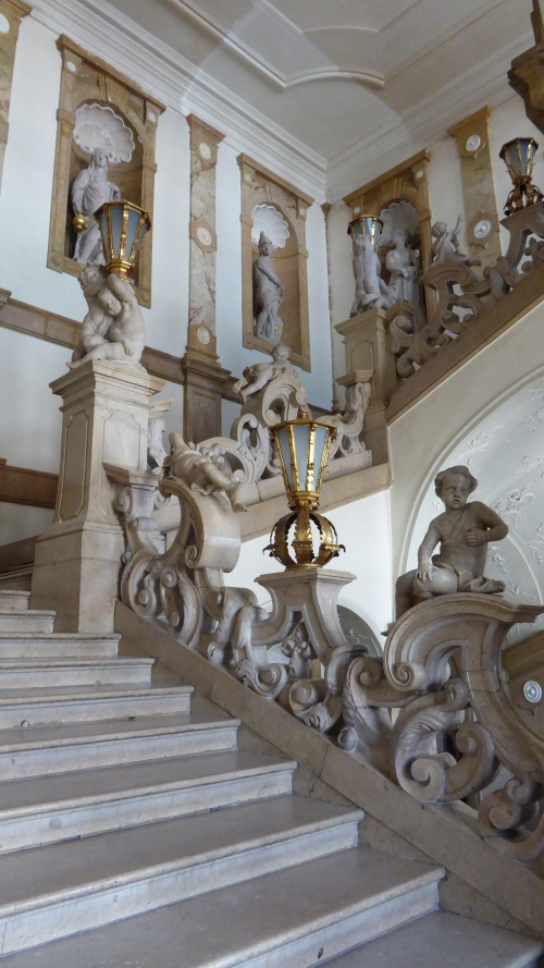 Marble staircase at Mirabell Schloss