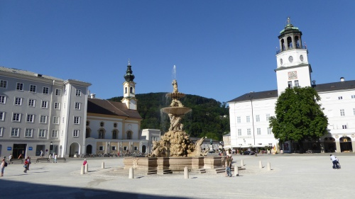 The main Dom Square, Salzburg.