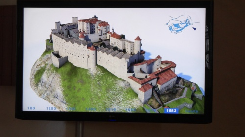 An image of the fort almost as it is today after centuries of bits being added on.