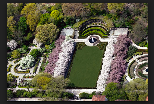Aerial View of the Conservancy Gardens in Spring