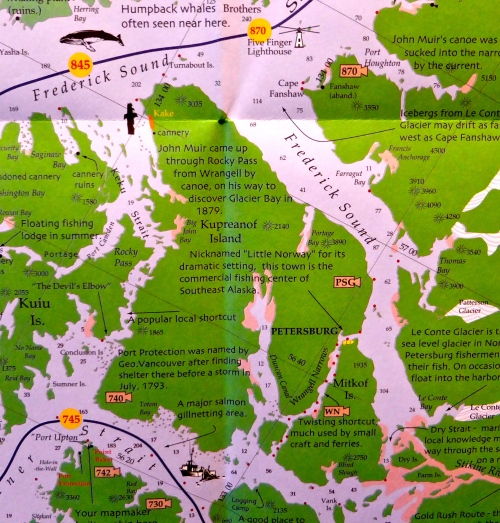 Map showing Petersburg © JT of jtdytravels; P1130582