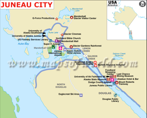 Map of Juneau
