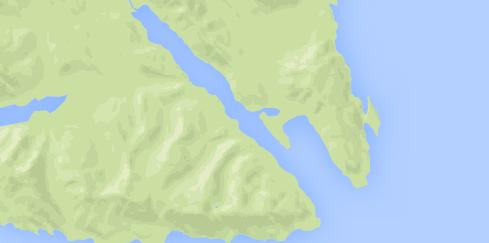Map of Sitkoh Bay Alaska