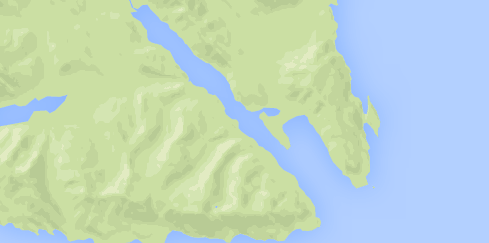 Map of Sitkoh Bay Alaska