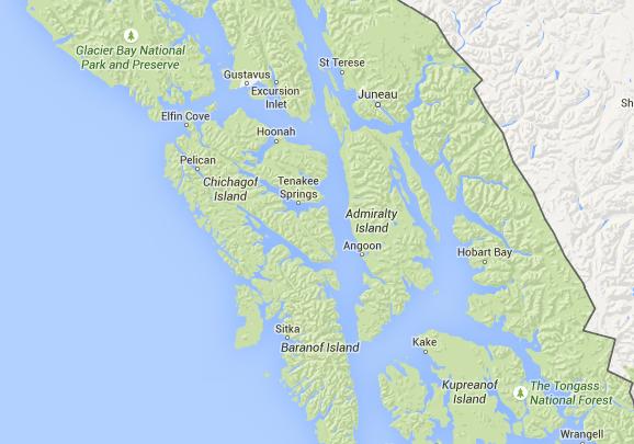 Sitkoh Bay map 1